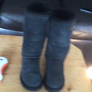 Australia ugg sz7 tall black classic suede boots